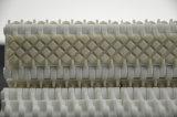 Erhöhtes Friktions-modulares Plastikförderband mit Gummis