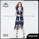 Cardigan de Fashion Black Fringe Swimwear de Madame