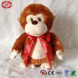 Giocattolo molle dei capretti di Cutie Brown del regalo della peluche del CE diritto della scimmia