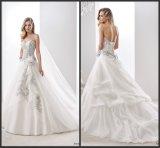 Blaues Spitze-Brautkleid-Farben-Akzent-Hochzeits-Kleid We2016
