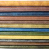 Rolo de couro sintético Waxy do couro do sofá do petróleo antigo da grão (818#)