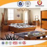 Античная двойная деревянная кровать для мебели комнаты кровати (UL-B85)