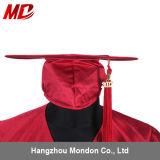 Abitur-Schutzkappe mit Troddel-erwachsenem glänzendem Rot