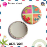 Factory Price Logo Custom Made Tinplate cosmétiques Mirror Pocket Mirror Gift
