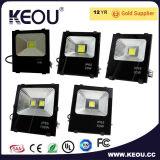 高い発電LEDの洪水ライト銀か黒いフレーム70With100With150W