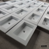 Kingkonree Cast Stone Résine Solid Surface Cabinet Bathroom Basin