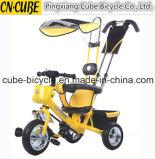 1개의 유모차에 대하여 4를 가진 최고 질 세발자전거 아기 Trike