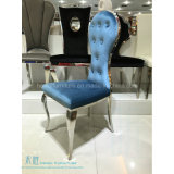 의자 (HW-YH97C)를 식사하는 높은 뒤 연회 금속 프레임 호텔