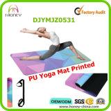 Farbenreiche Digital gedruckte PU-Yoga-Matte, beste Gleitschutz-PU-Yoga-Matte, kundenspezifisches Drucken