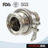 Válvula de cheque afianzada con abrazadera grado sanitario del acero inoxidable (JN-NRV2003)