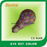 Ampoule incandescente colorée du métier A19