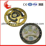 Diamant-Schnitt-Rand-Ton-Überzug-kundenspezifische Andenken-Münzen