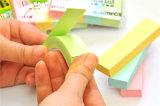 3*3*1/4 almofada de nota pegajosa da polegada 75GSM com 4 cores claras
