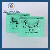 Bolsa de papel azul del regalo con la impresión