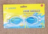 Enfants de dessin animé nageant des lunettes/enquête de natation