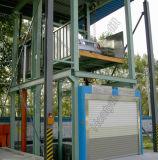 分岐のための縦のガイド・レールの鎖の貨物エレベーター