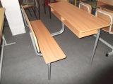 Mesa dobro de madeira combinado da escola e cadeira (SF-09D)