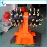 掘削機の接続機構の油圧ドラム・カッター