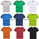 Maglietta pura del cotone di colore degli uomini di alta qualità con il marchio su ordinazione