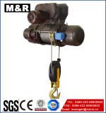 Élévateur électrique de câble métallique de 7.5 tonnes avec le double crochet