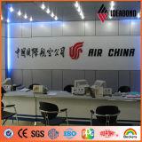 Ideabond рекламируя алюминиевую панель плакирования для больших афиш сделанных в Китае от строительных фирм