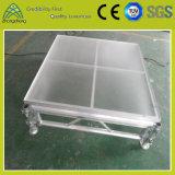 Etapa de aluminio de interior al aire libre movible y portable del funcionamiento ajustable
