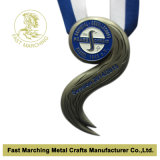 Medaille met Antique Silver Plating, Medallion met 3D Effect