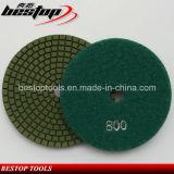 Пусковая площадка диаманта гранита точильщика угла зеленого цвета полируя