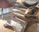 Premier Tableau dinant en acier en verre moderne de Stainess de salle à manger à vendre