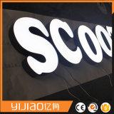 Quadro indicador do anúncio ao ar livre, Signage acrílico
