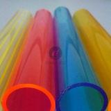 Tubulações acrílicas expulsas coloridas de PMMA