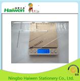 Jogo ajustado da régua do tipo de Haiwen da embalagem do PVC 2PC da régua do triângulo do escritório Hw-Tr30
