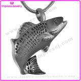 Collier pendant d'urne de poissons pour le support de souvenir de cendres (IJD9236)