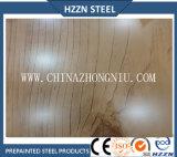 コイルの木の穀物の鋼板