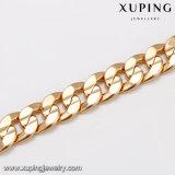 43660 Moda banhado a ouro grande longa liga de metal jóias cadeia de colar de homens