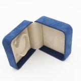 Изготовленный на заказ напечатанная логосом коробка индикации ювелирных изделий подарка бархата (J92-CX)