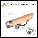 Corchete redondo flexible de la barandilla para la barandilla de madera del tubo