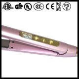 Touch Screen Dual Voltage 100-240V 450f Straightener de cabelo com LCD