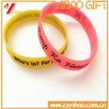 Boucle colorée de silicones de qualité de la bande de poignet de boucle en caoutchouc et de silicones (XY-HR-108)
