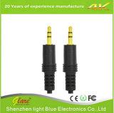 Cable estéreo audio aux. del cable 3.5m m