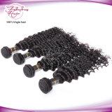Tecelagem não processada malaia do cabelo do cabelo 100% do Virgin da onda Curly profunda