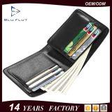 Бумажник людей неподдельной кожи нестандартной конструкции способа поставкы фабрики Trifold