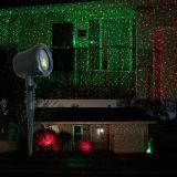 Luz vermelha e verde da paisagem do jardim do laser para a decoração