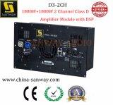 De Module van de Versterker van D van de Klasse van het Kanaal D3-2CH 1800W+1800W 2 met DSP