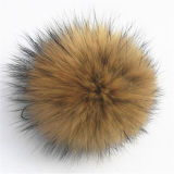 Шарик шерсти Pompom шерсти Raccoon высокого качества естественный