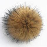 Bola natural de la piel del Pompom de la piel del mapache de la alta calidad
