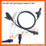 Écouteur acoustique de tube pour la radio bi-directionnelle de Hytera Tc-320