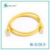 color del amarillo del cable de la comunicación de los 2m CAT6 UTP
