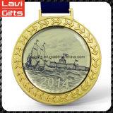 Medalla modificada para requisitos particulares diseño atractivo del deporte del oro