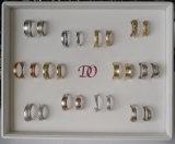 Bandeja blanca 12pairs de la visualización del MDF del anillo de madera sólido de lujo de encargo de la visualización de la bandeja de los anillos